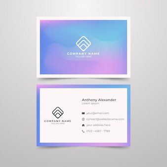 Patel color concept for business card