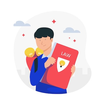 Patent law concept illustrated Free Vector