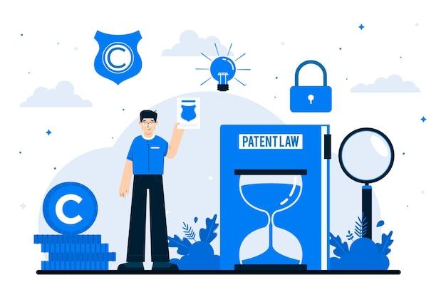 Патентный закон авторского права иллюстрация