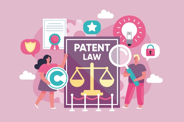 Patent law copyright illustration