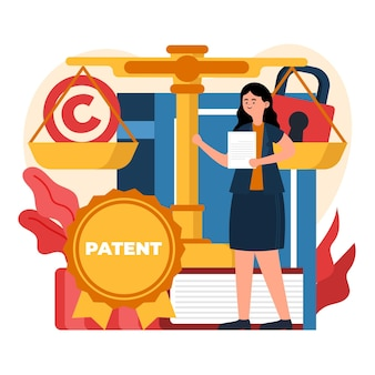 Patent law illustration Free Vector