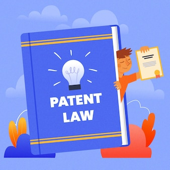 Patent law legal rights concept