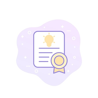 Patent vector icon with outline