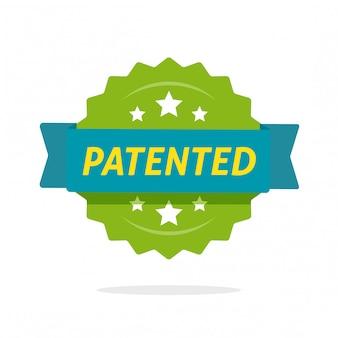 特許または知的財産で保護されたラベルフラット漫画