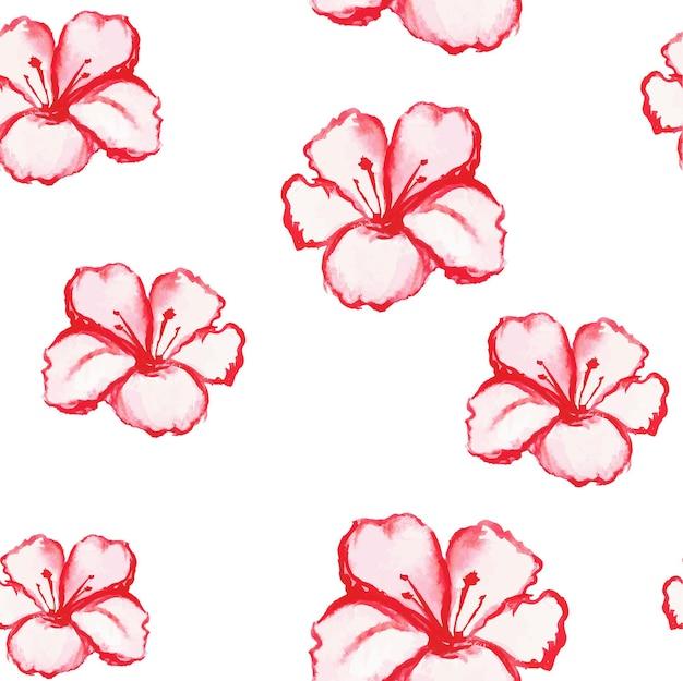花とパターンのシームレスな壁紙