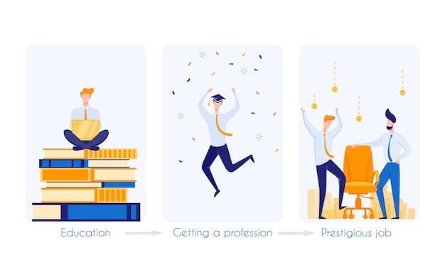 Path to prestigious profession. prestigious job.