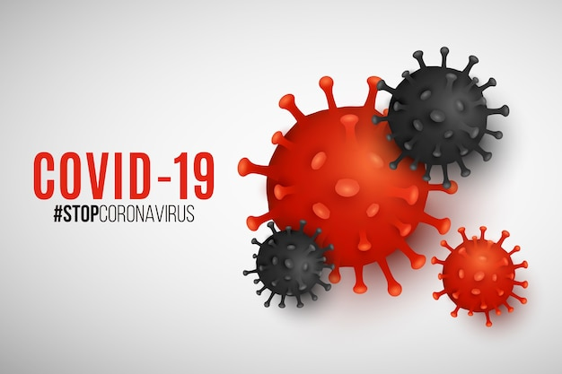 Pathogen organism coronavirus for science banner. covid-19 epidemic infectious disease. cellular infection. realistic virus model for your medical project.