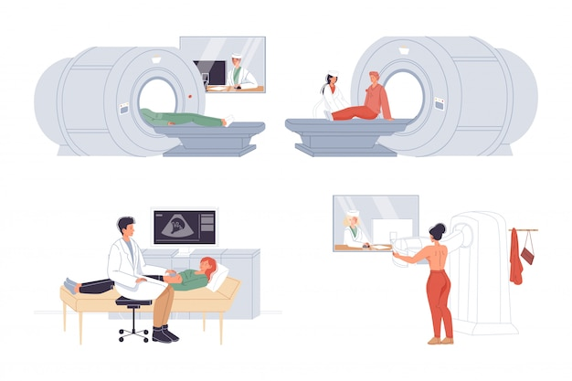 Диагностика пациента на медицинском оборудовании