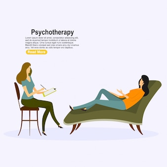 Patient at psychiatry counseling