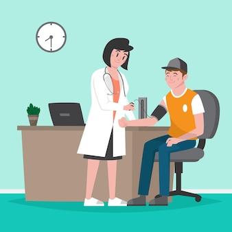 健康診断を受ける患者