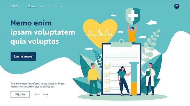 Пациенты и доктор, реклама медицинского страхования