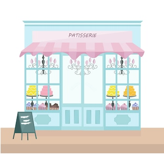 Patisserie store background