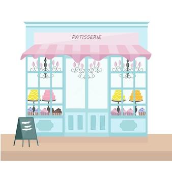 Patisserie store background