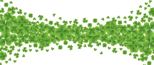 Patrick day background with fourleaf clover pattern background.