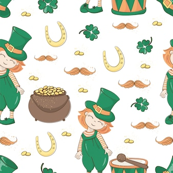 Patrick's ale聖パトリックの日のシームレスパターン