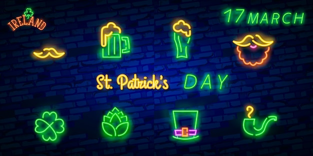 Patrick's day neon sign
