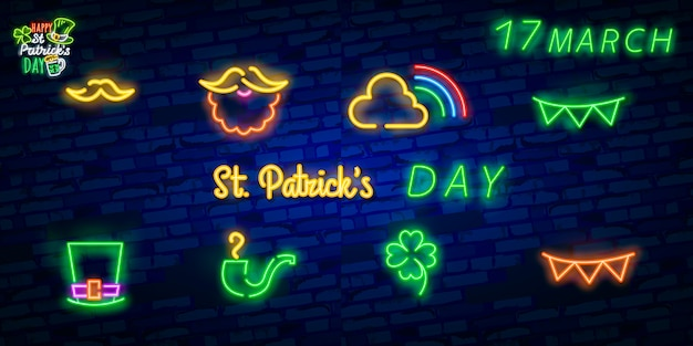 Patrick's day neon sign.