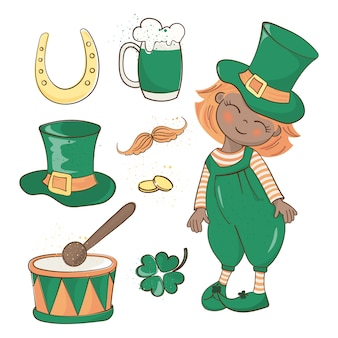 Patrick's day saint patrick's holiday vector illustration