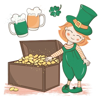 Patrick's treasure saint patrick's day vector illustration