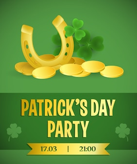 Patricks day bright invitation design