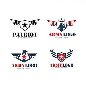 Patriot & army logo with military star & wing modern logo