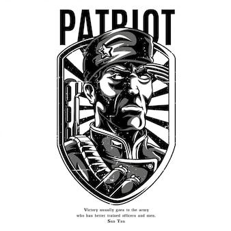 Patriot black and white