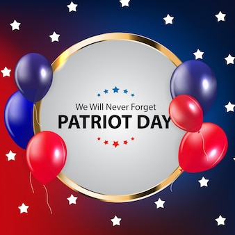 Patriot day background. september 11 poster. we will never forget. vector illustration
