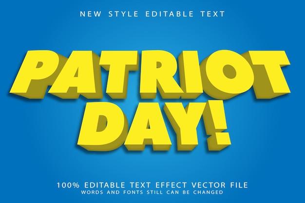 애국자의 날 편집 가능한 텍스트 효과