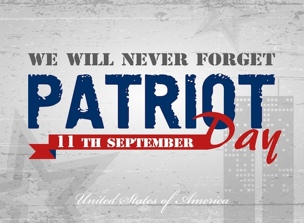 Patriot day. vector illustration. poster, cards, banners, template