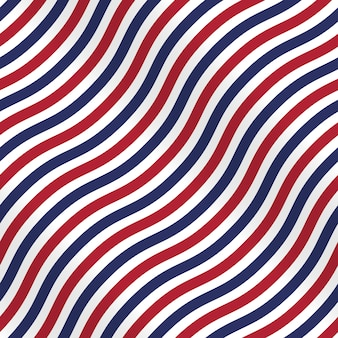 Patriotic american pattern with stripes on white background