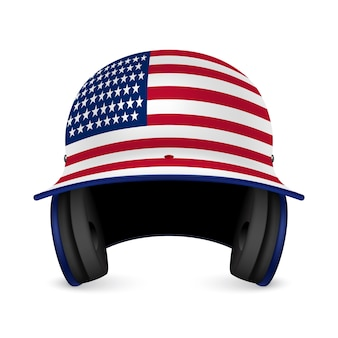 Патриотический бейсбольный шлем - флаг сша.