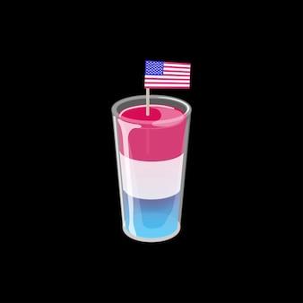 Patriotic cocktail shot