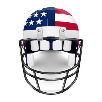 Патриотический футбольный шлем - флаг сша.
