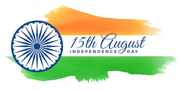Patriotic happy independence day of india banner