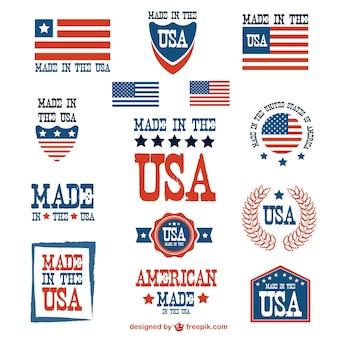 Сша патриотическое векторный набор значков