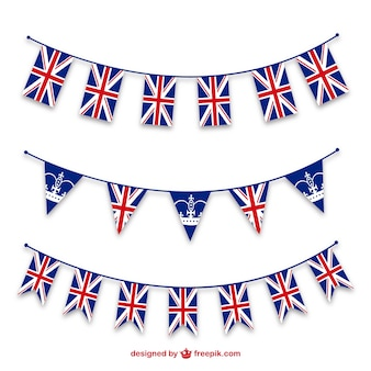 Patriotic union jack jubilee bunting templates