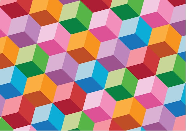 Pattern 3d cube