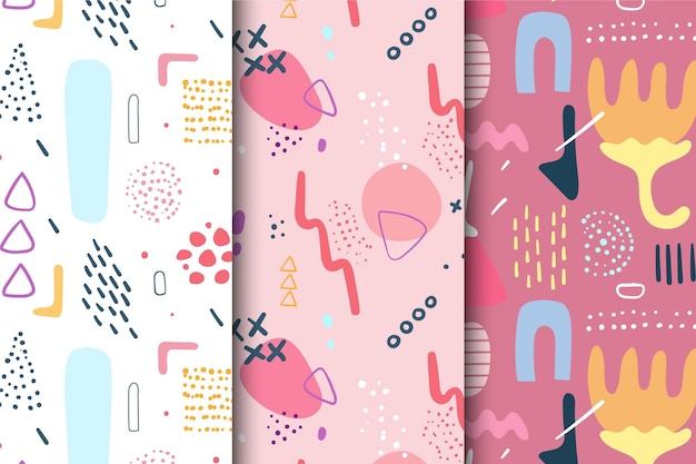 Pattern abstract hand drawn pack