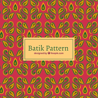 Pattern of abstract shapes in batik style