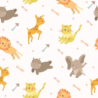 Pattern animals safari arrows