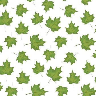 Pattern of autumn leafs decoration illustration
