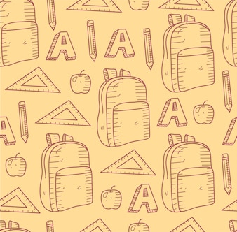 Pattern back to school seamless