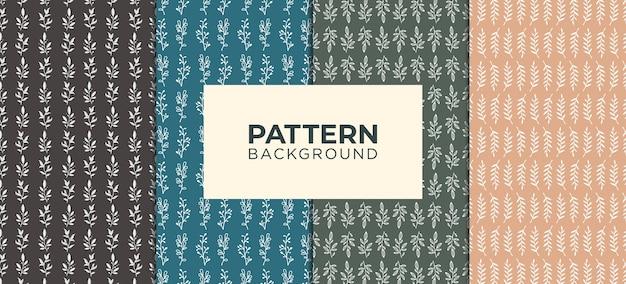 Pattern background flower logo premium