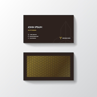 Pattern background minimal business card design