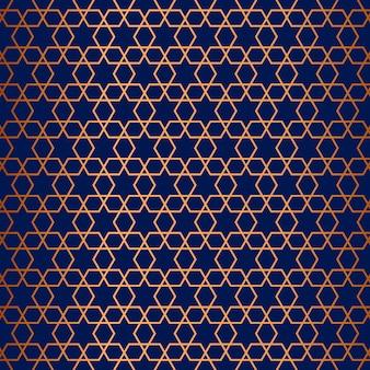 Pattern di sfondo con design a tema arabo
