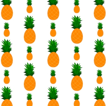 Pattern background with  pineapple. design for greeting card, summer invitation, trendy fabric, simple ornament, texture template, stylish layout. vector illustration.