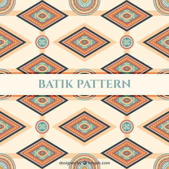 Pattern of batik geometric shapes