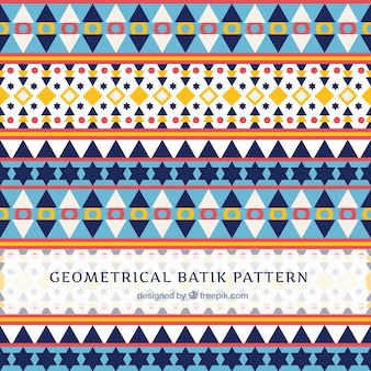 Pattern in batik style with geometric shapes