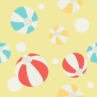 Pattern of beachball and abstract circle background