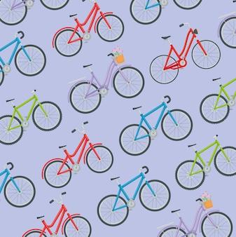 Pattern of bikes